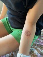 誕生花キンセンカ&月と太陽